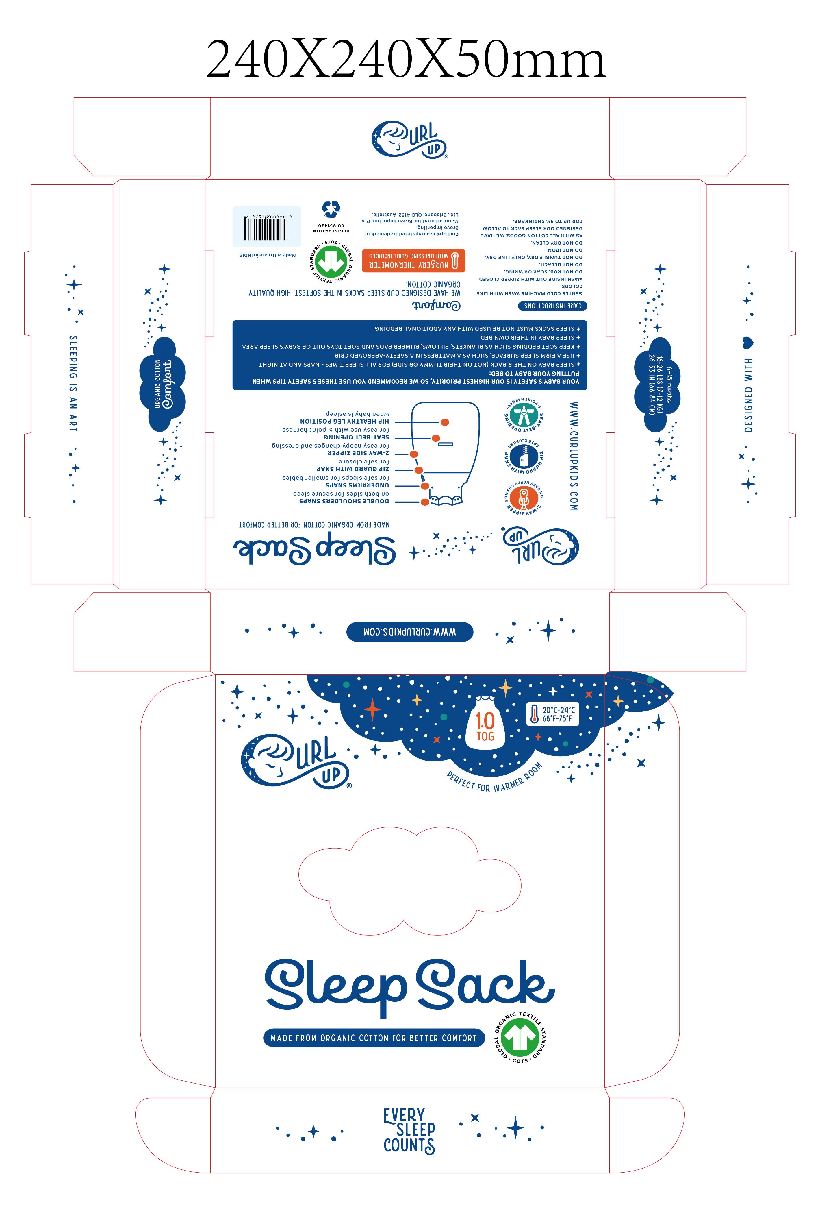 Curl Up Sleeping Bag and Muslin Bundle