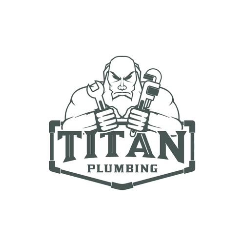 Titan Chronos Logo for Plumbing Company