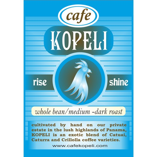 New print or packaging design wanted for Cafe Kopeli