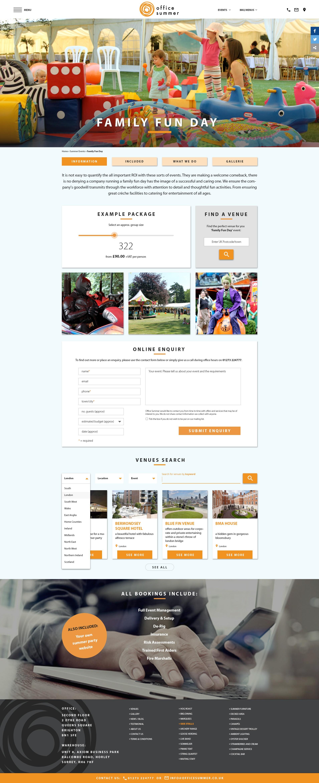 design a corporate summer event website and logo