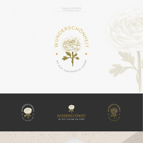 Unique and modern flower logo (ranunculus) for a fashion and (life-)style start up. This version didn't make a cut but I still like it.