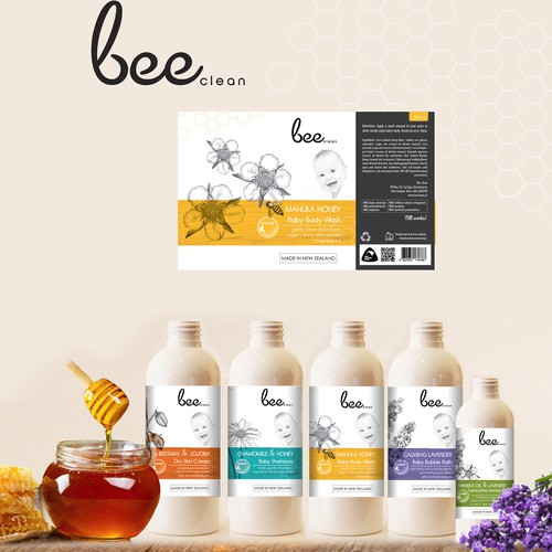 BEE CLEAN!... MODERN, CLEAN, EYE CATCHY, LABEL
