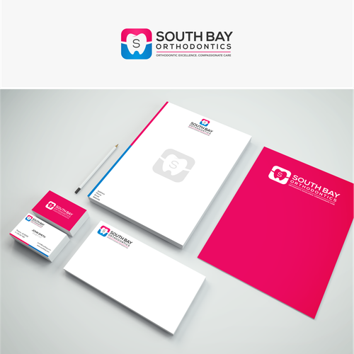 Simple and elegant logo for South Bay Orthodontics.