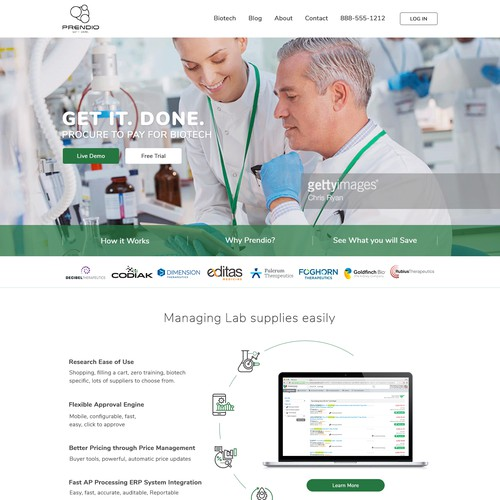 Scientific Related Services web design