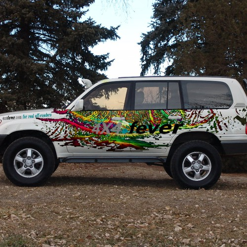 An auto wrap design entry for 4x4fever online magazine