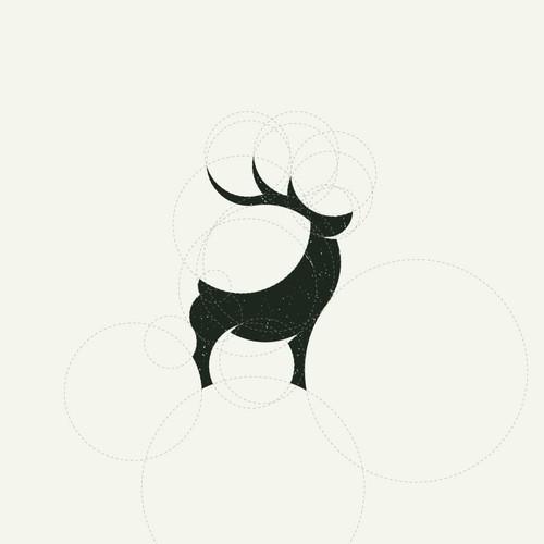 Rustic deer icon