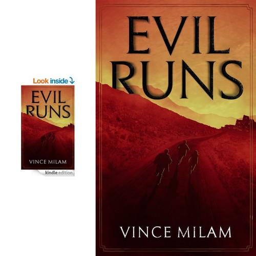 Book cover, Evil Runs