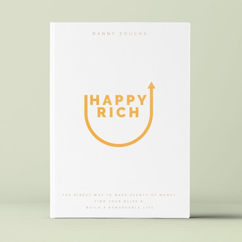 "Book cover design concept for ""Happy Rich"""
