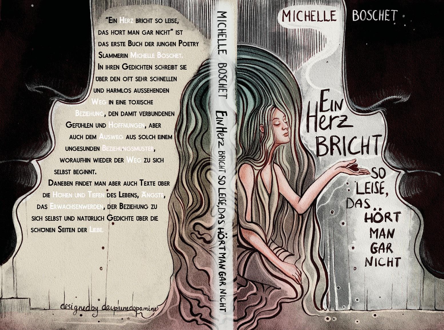 Junges Design für junge Autorin, die ihr erstes Gedichtebuch veröffentlicht