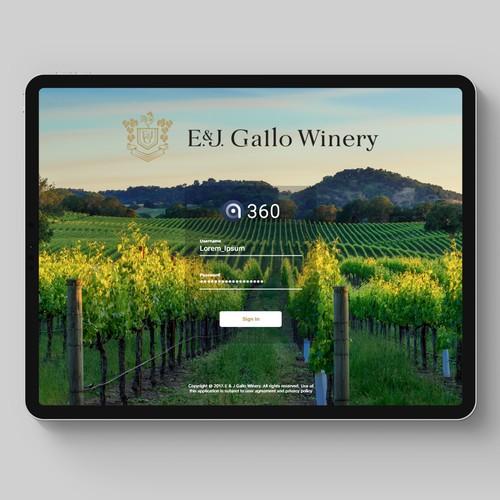 iPad Winery app design
