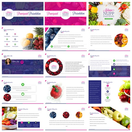 PowerPoint Design for a Nutritionist