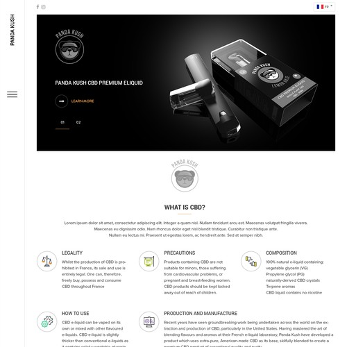 Responsive theme based unique web design