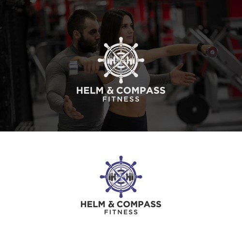 Logo for Personal Trainer Website - Nautical theme, helm and compass