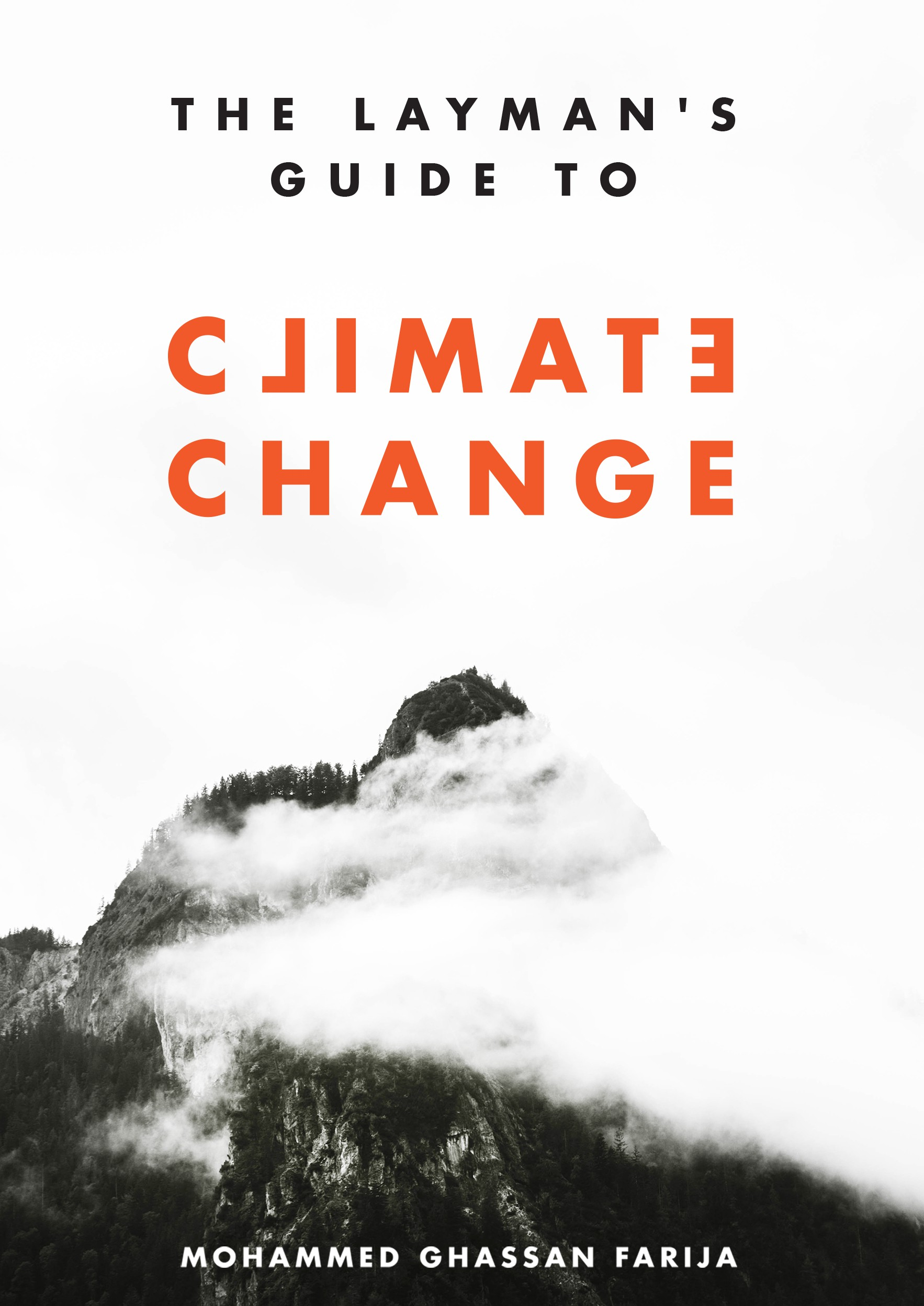Design the front cover for a book about climate change