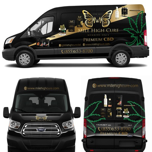 Mile High Cure Van Wrap