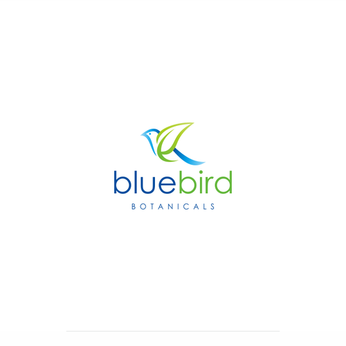 Simple logo design for Bluebird Botanicals