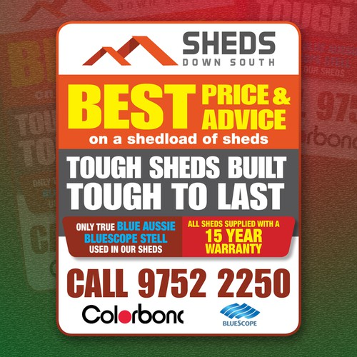 Classifieds advert for Sheds Down South