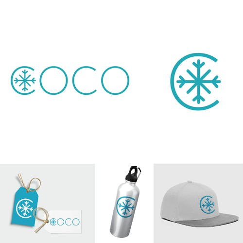 Logo for trendy, youthful winter accessory brand
