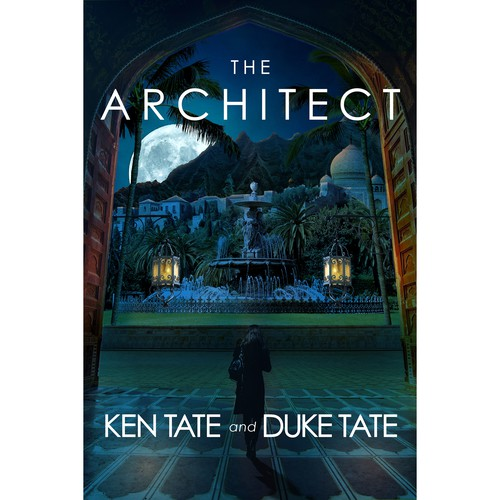 Book cover design for The Architect