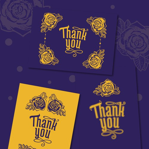 Thank you card series