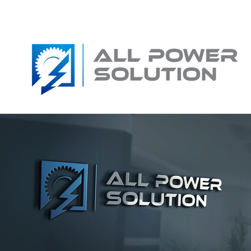 Bold logo for power generators company