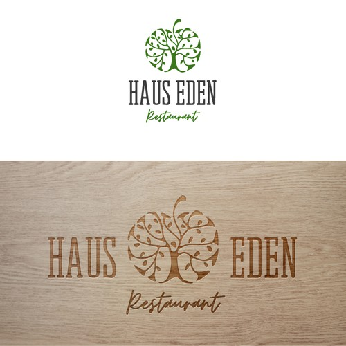 Logo design for a restaurant specializing in healthy food  in the form of sustainability and dietary cooking
