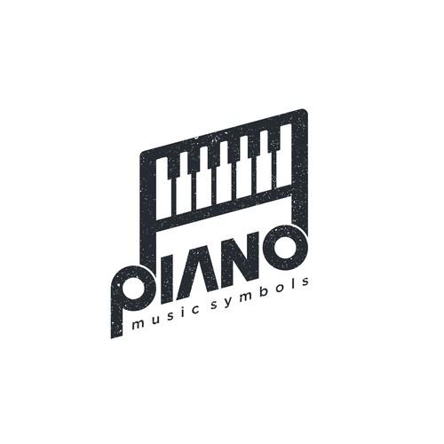 piano, music symbols