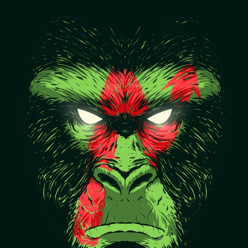 T shirt print monkey