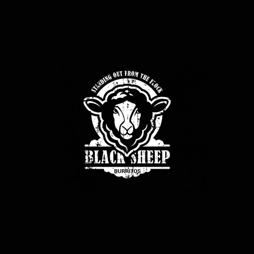 Logo Design for Black Sheep Burritos