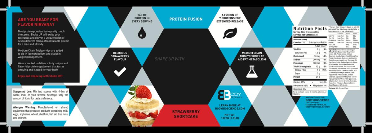 Protein powder supplement label design