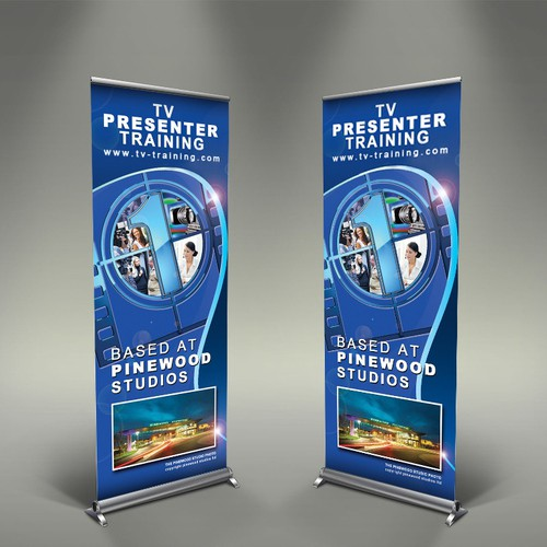 TV Presenter Training needs a new signage