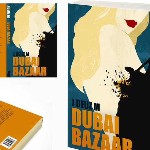 Design an awesome book cover for a Thriller / Crime story set in the Middle East!
