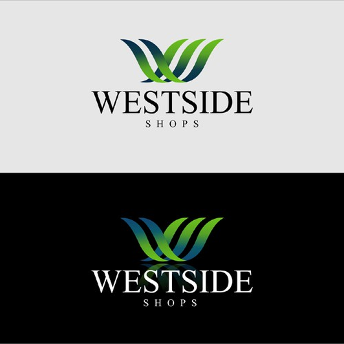 Logo for an upscale modern strip mall