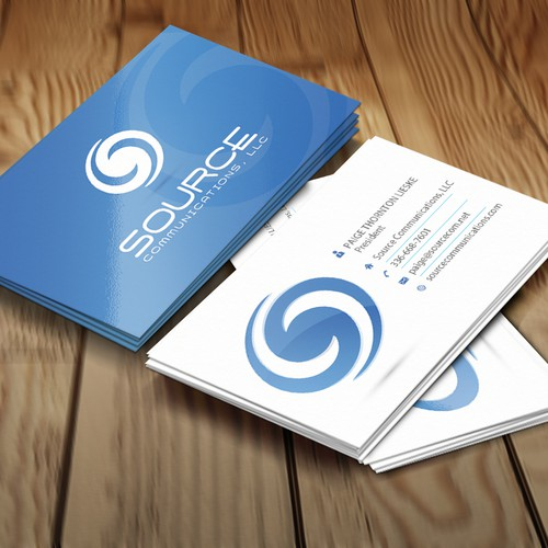 Create a new logo and business card for Source Communications