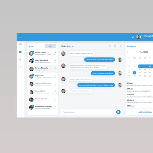 Chat UI design