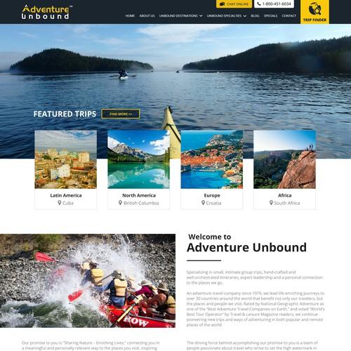 Website design for vacations website