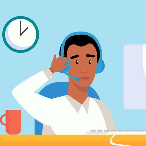 call-center illustration