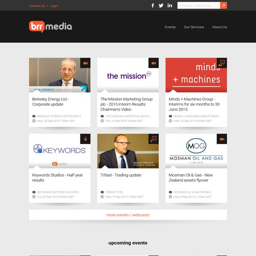 Corporate Webcasting & Media Website Design