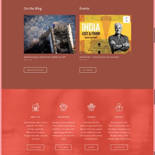 Bold Squarespace Website Concept for NPO