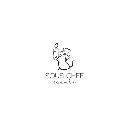 Cute Mouse Chef Logo