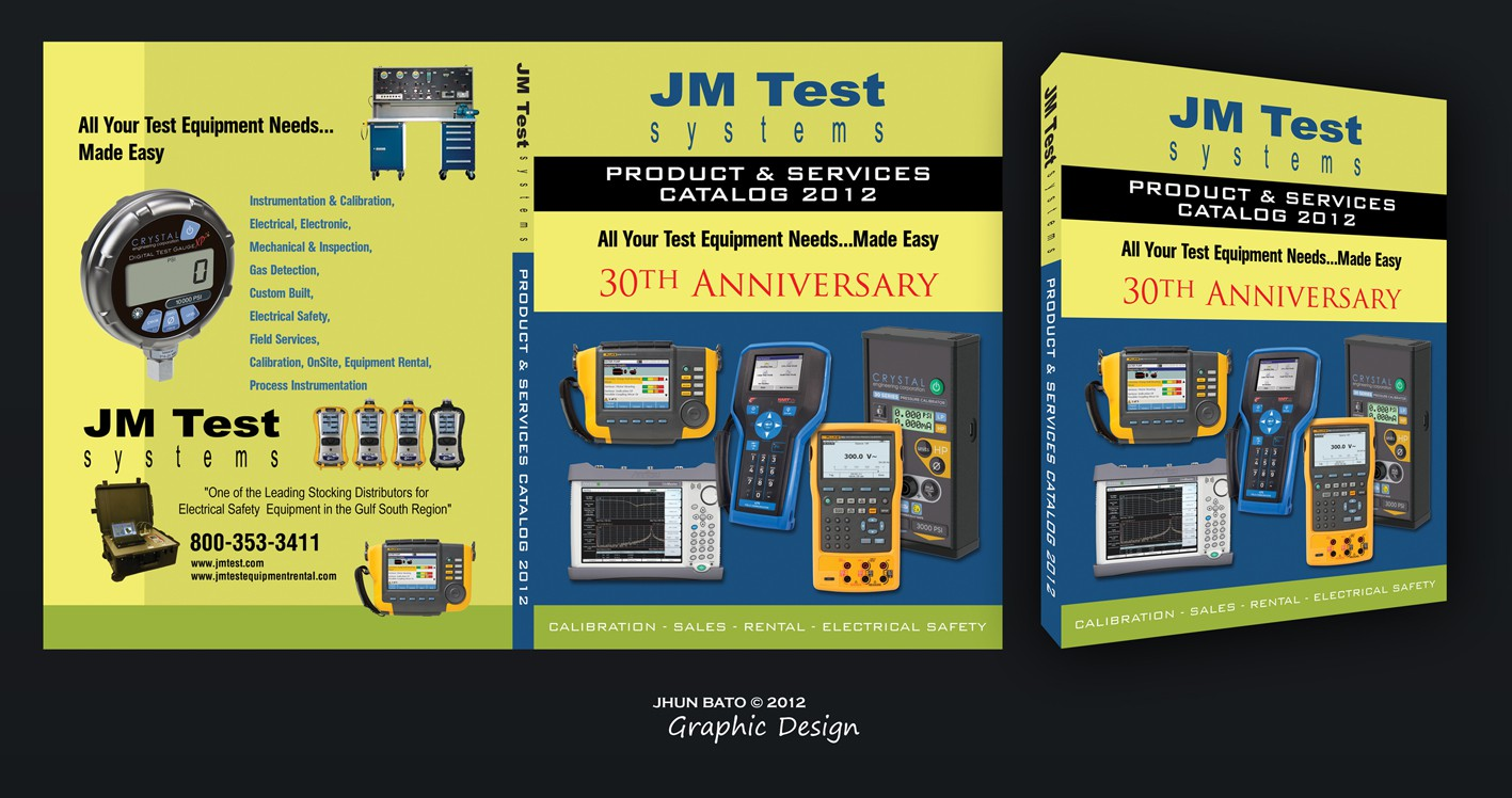 JM Test Systems needs a Catalog Cover design