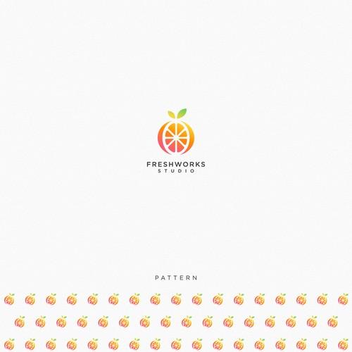 simple logo for FreshWorks Studio