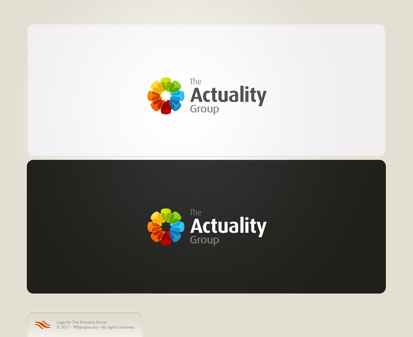 Visual identity for 'The Actuality Group' (a social enterprise)