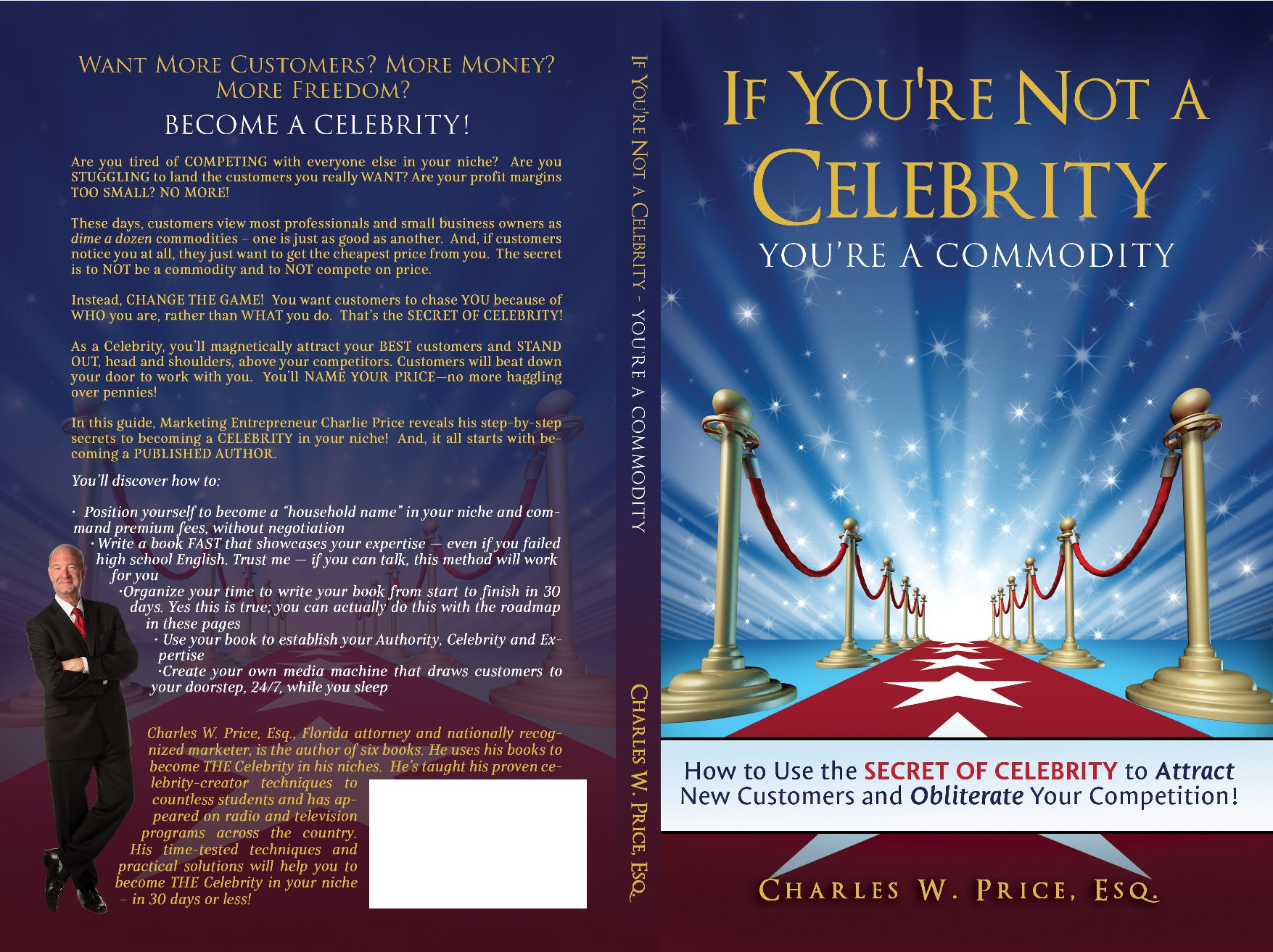 """Design a cover for my new book """"If You're Not a Celebrity ... You're a Commodity!"""""""
