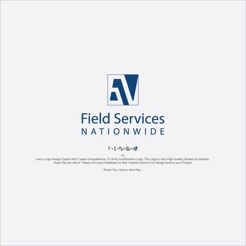 F+S+N combination Minimalist Logo