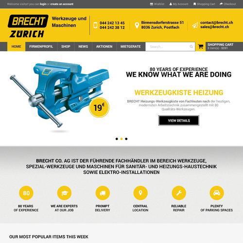 Create new design for BRECHT ZÜRICH