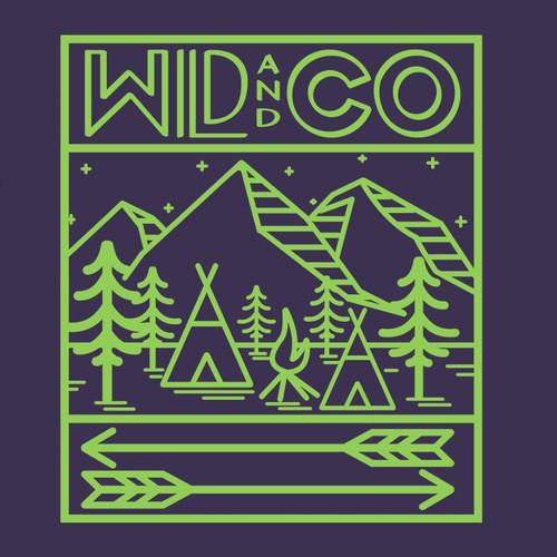Outdoor Brand Sticker Design