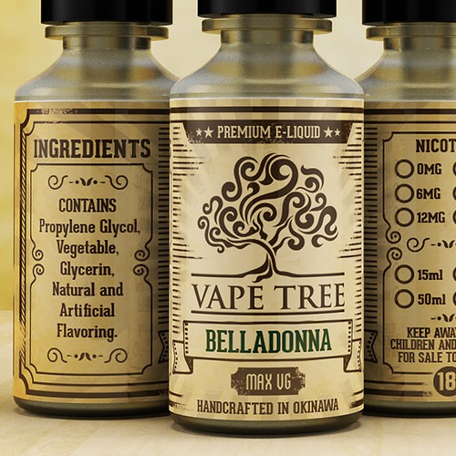 Vape Tree Label Design