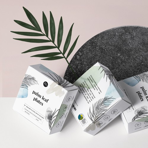 Packaging for Sustainable Palm Leaf Plates