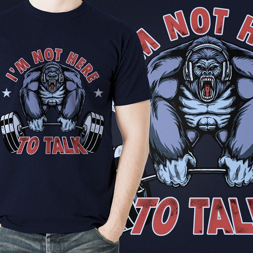 I am not here to talk - tshirt design